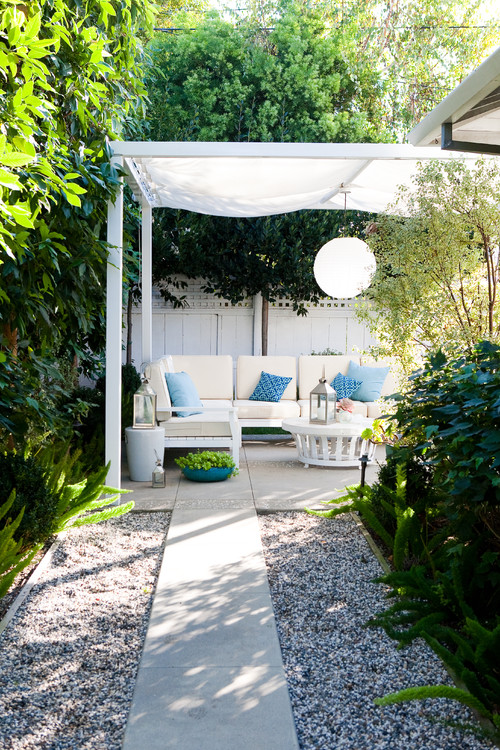 fresh and clean traditional patio