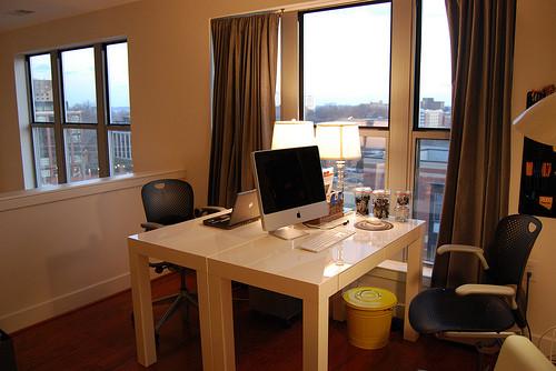 modern home office loft office