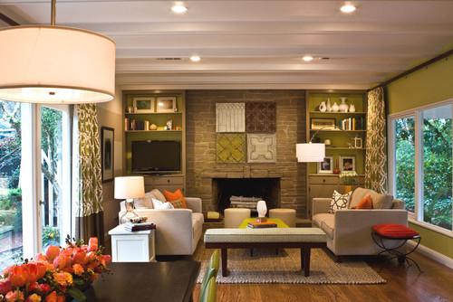 Orinda Family Fun Room modern family room
