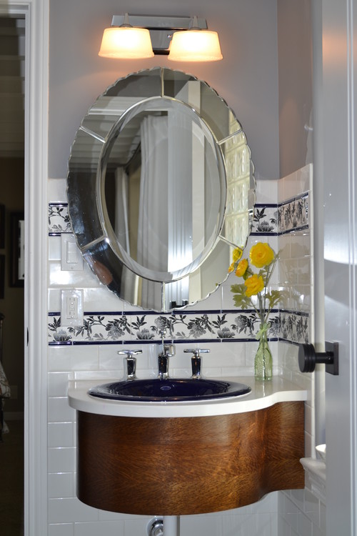 Wall mounted vanity traditional bathroom
