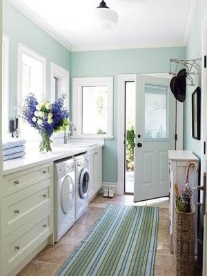 fresh laundry traditional laundry room