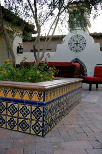 Wall fountain with lights using Mexican tiles by ...