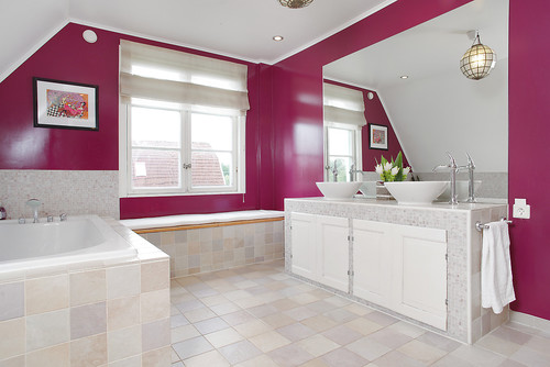 The big bathroom eclectic bathroom