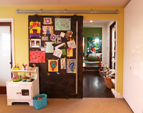 Cool Magnetic Sliding Door. contemporary kids