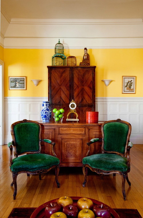 Pacific Heights eclectic living room