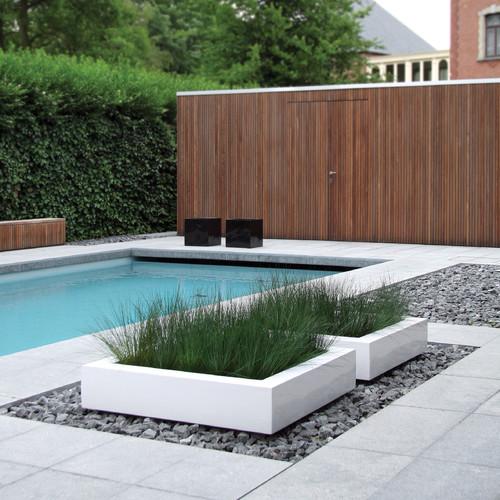 Cube Planter 06606 modern pool