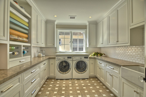 Lido Isle Home contemporary laundry room