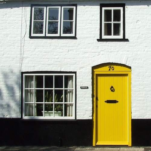 yellow door  entry