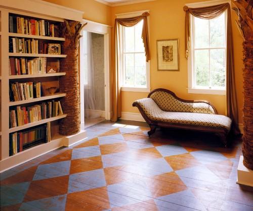 Palmetto Tree Bookcase eclectic hall