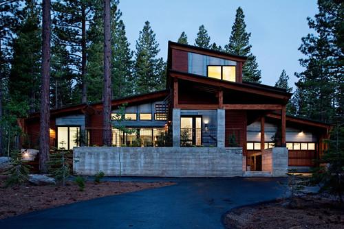 mountain modern prefab contemporary exterior