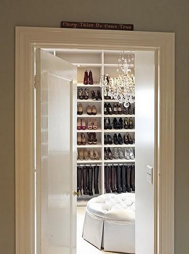 Shoe Closet modern closet