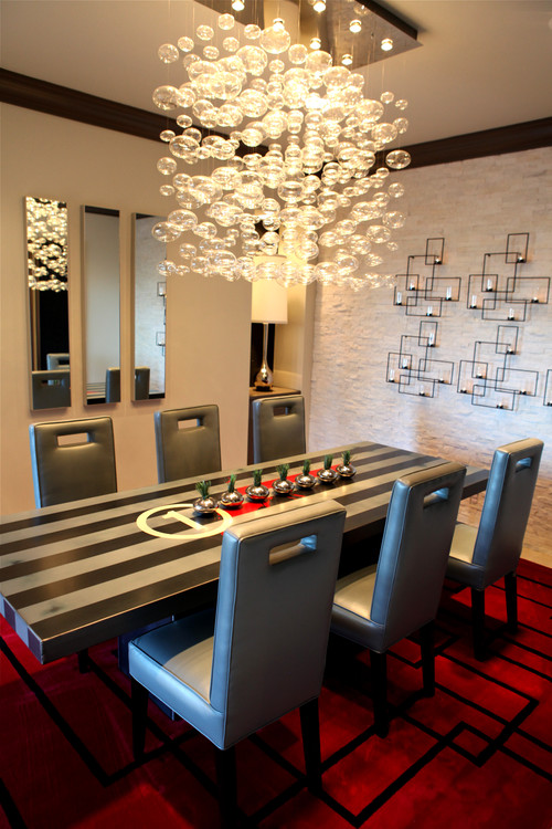 A.S.D. Interiors dining room contemporary dining room