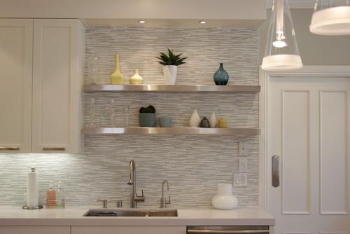 Backsplash detail contemporary kitchen