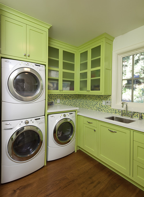 new project contemporary laundry room