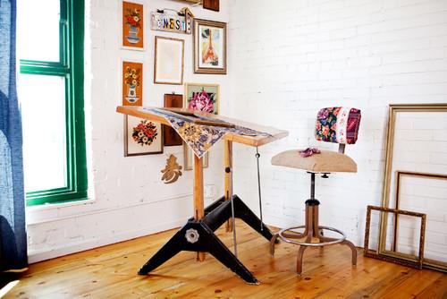 Loft shots eclectic home office