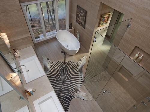 Ranch House Bathroom Renovation contemporary bathroom