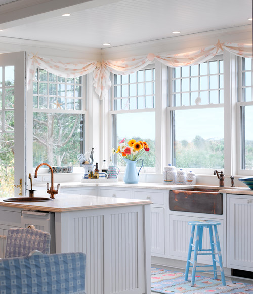 coastal style kitchen How to Add Coastal Style to Your Home - Town & Country Living