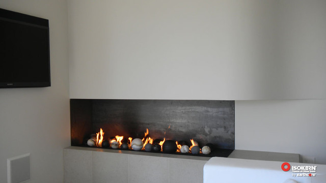 Isokern Fireplaces  Contemporary  Living Room  sacramento  by Rustic Brick and Stone