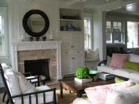 What is the depth and width of the fireplace bump out and ...