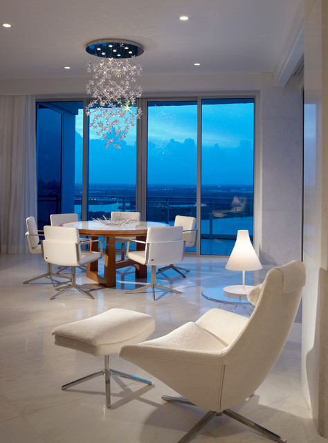 swivel high chair baby big bean bag chairs walmart ocean penthouse miami beach - contemporary dining room by alene workman interior ...