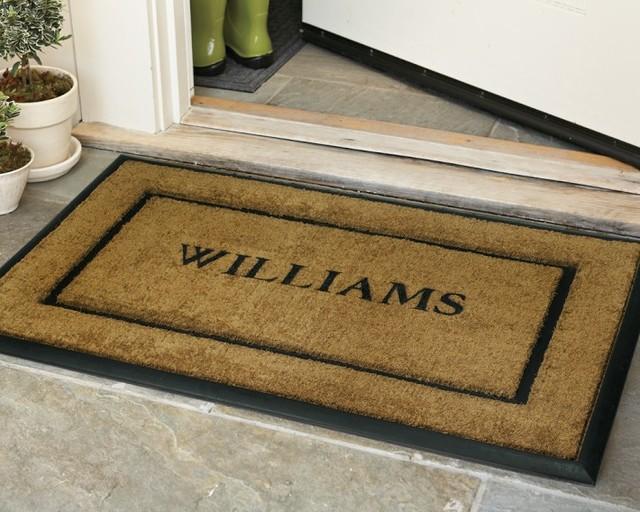 personalized rubber door mats