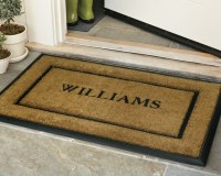 personalized rubber door mats