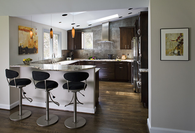 Kitchen Family Room Dining Room Laundry Room Wet Bar and Art Studio  Contemporary
