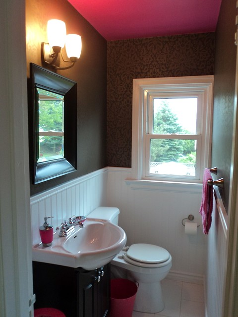 Bathroom With Pink Ceiling Modern Bathroom Toronto By Beyond The Stage Homes