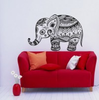 Wall Vinyl Decals Animal Vintage Elephant Patterns