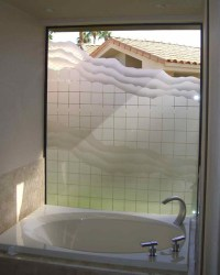 SQUARES & WAVES - Bathroom Windows - Frosted Glass Designs ...