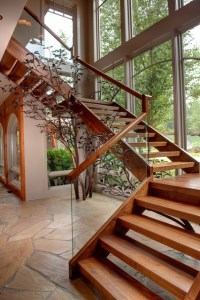 Apple Farm - Rustic - Staircase - atlanta - by Moon Bros Inc