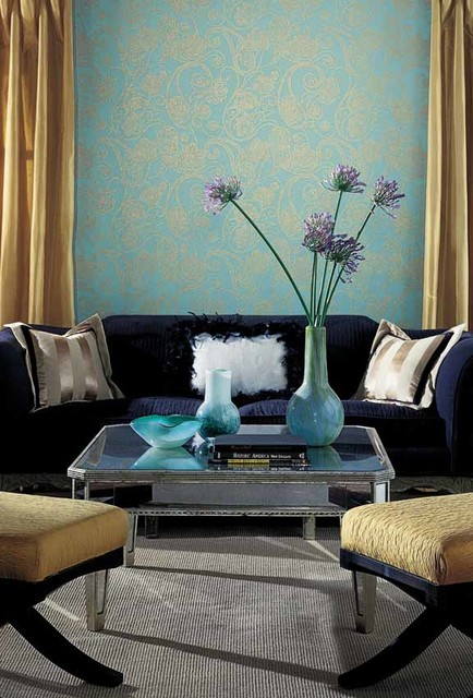 Candice Olson Shimmering Details  Contemporary  Living Room  other metro  by American Blinds