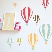 Hot Air Balloon Wall Stickers - Contemporary - Wall Decals ...
