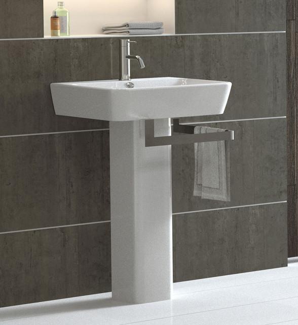 Emma Pedestal Sink  Modern  Bathroom Sinks  By Bissonnet