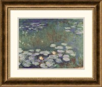 Water Lilies Framed Print by Claude Monet - Traditional ...