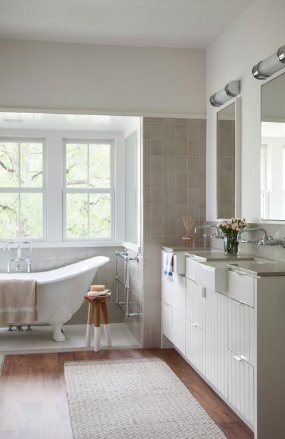 Modern Farm House  Farmhouse  Bathroom  austin  by Tim Cuppett Architects