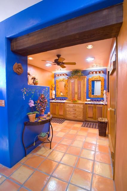 Bathroom Bold Mexicanstyle  Mediterranean  Bathroom