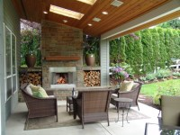 Outdoor Fireplace. Bull Mountain - Traditional - Patio ...