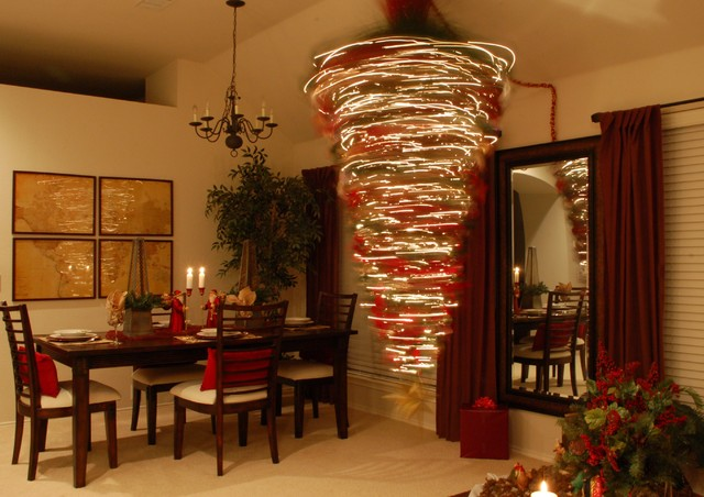 Photos My Upside Down Christmas Tree Traditional Living Room Dallas
