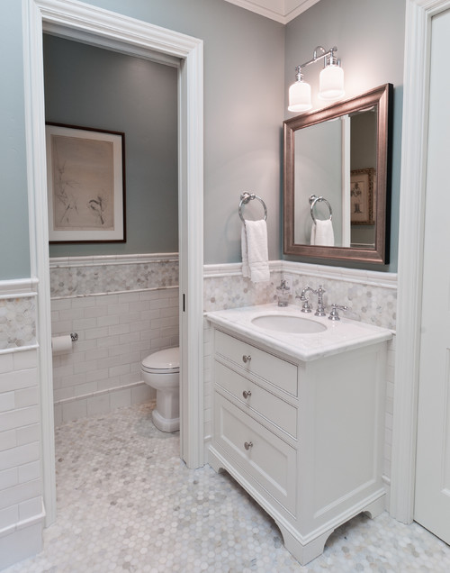 Merveilleux Imperial Grey By Benjamin Moore. Traditional Bathroom