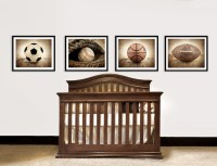 Vintage Sports Nursery Decor