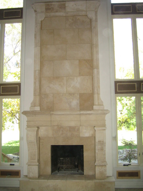 Tall Fireplace Mantle