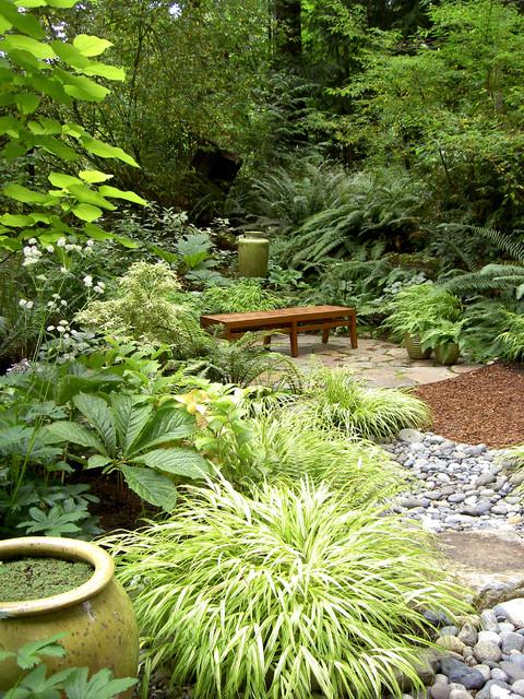 garden landscaping ideas wet