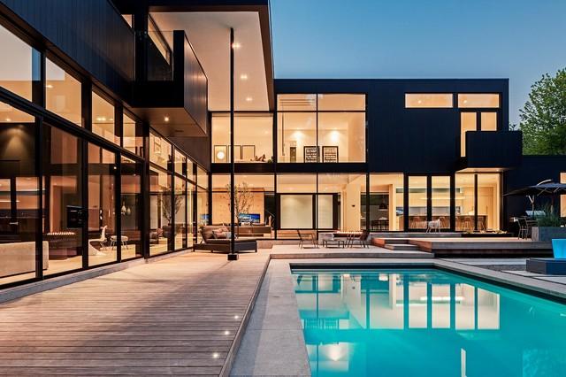 Modern Home In Oakville Ontario Modern Exterior