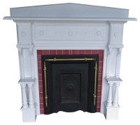 Consigned Vintage Fireplace Mantel Surround Antique Mantel