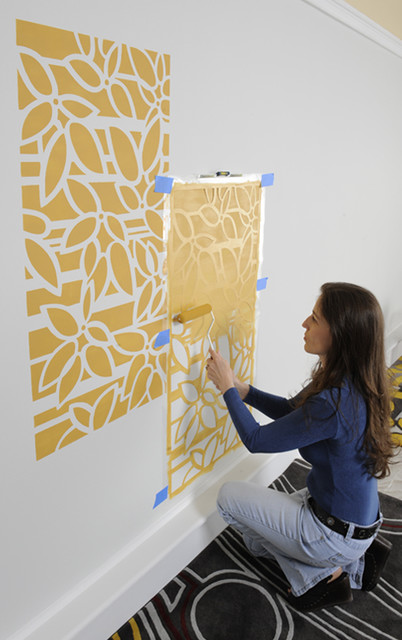 How to stencil, easy step
