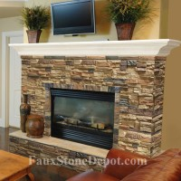 Faux Stone Fireplaces - Traditional - Living Room - miami ...