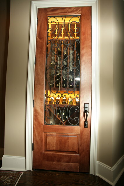 Closet Converted to Wine Cellar  Traditional  Wine Cellar  charlotte  by Cellars South