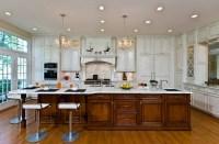 Traditional, Elegant Kitchen Uses Exotic Stone, Leaded ...