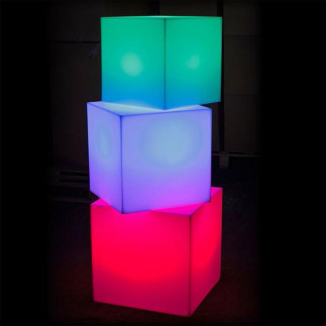 Cube Sharp  Outdoor Portable LED Lamp  Smart  Green